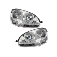 Pair Hella Headlight Assembly For Volkswagen Jetta Golf Rabbit R32 GTI 16-80243H2 New