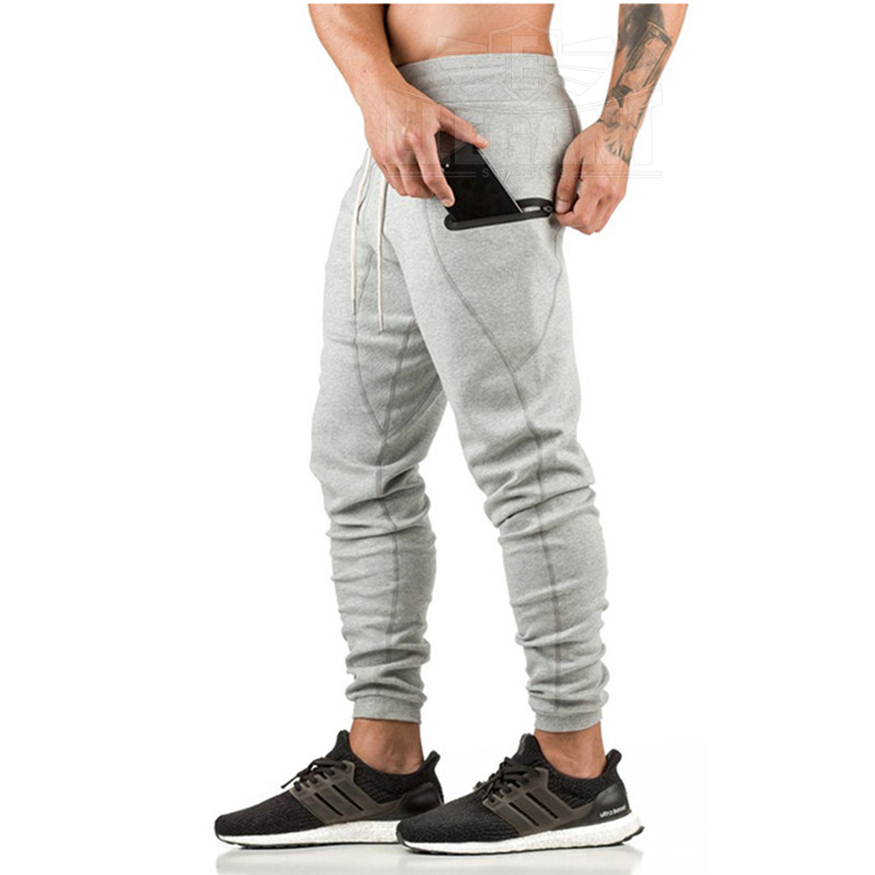 Top Brand Mannen Gym Sport Running Broek Casual Ritsvak Fitness Workout Bodem Skinny Joggingbroek Broek Jogger