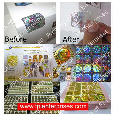 Hologram Tamper Proof Sticker Buy Hologram Sticker Philippines