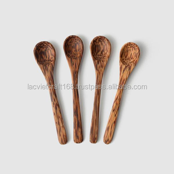 High quality best selling a natural handcrafted coconut wood condiment spoon from Viet Nam