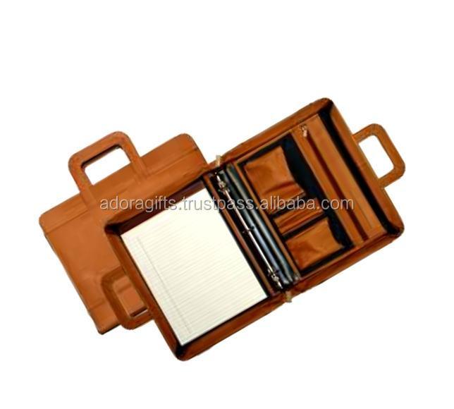 A5 Embossed Leather 3 Ring Binder / Zipper Binder / 2018