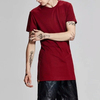 Extended Drop T Shirt Side Zip-up // Kanye West Style Silky Long T shirt