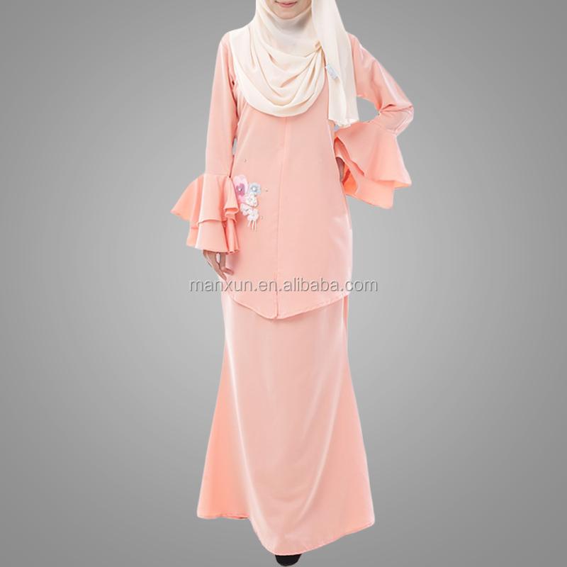 Malaysia Women Beaded Peach Baju Kebaya Modern Baju Kurung 2017 Muslim Ladies Suits Buy Baju Kebaya Modern Baju Kurung Baju Kurung 2017 Muslim