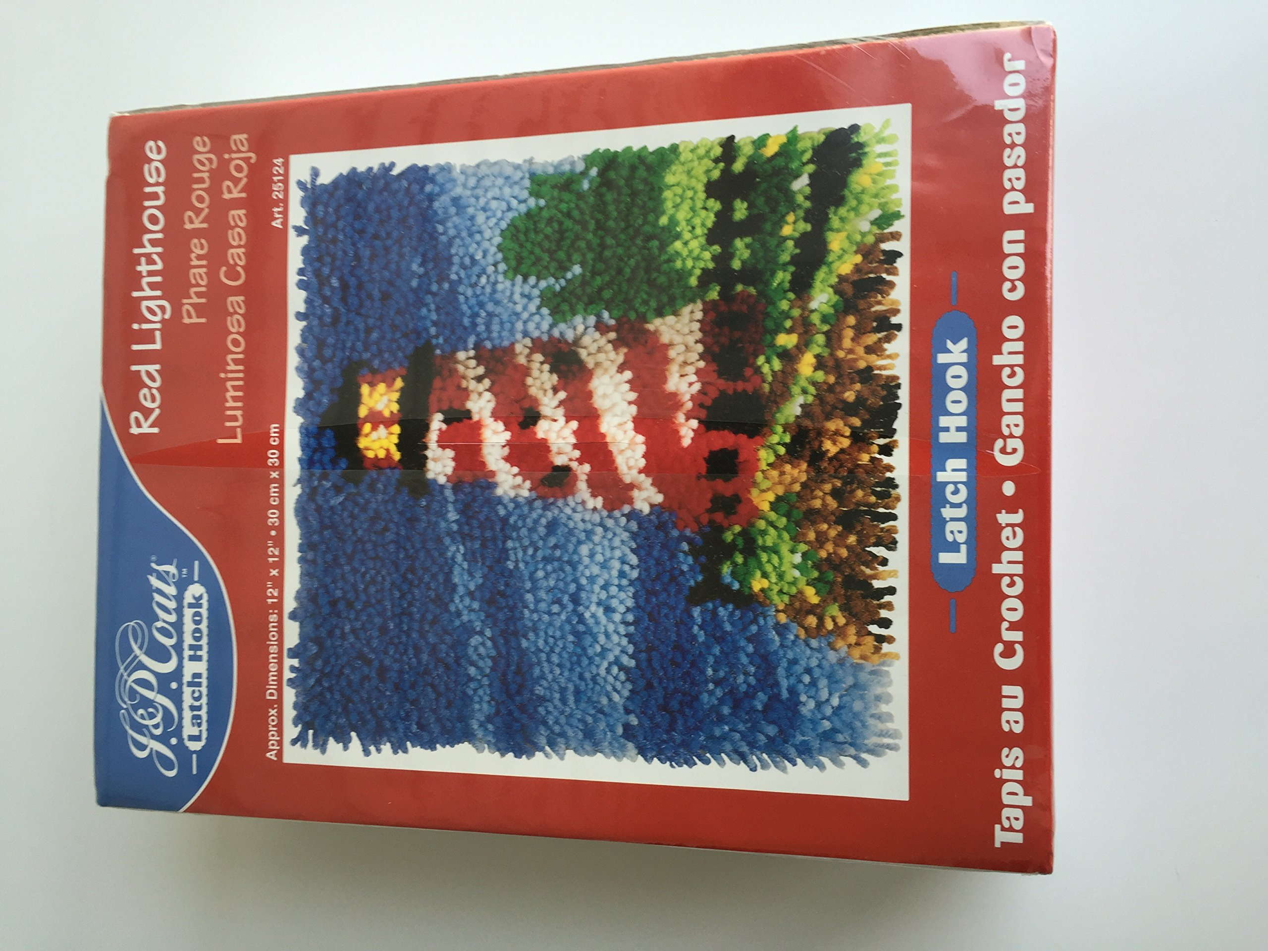 J. & P. Coats Latch Hook Rug Kit# 25124 - Red Lighthouse