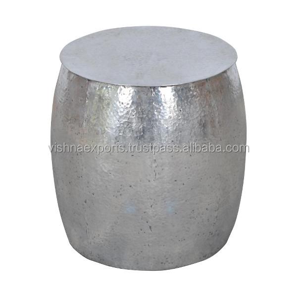 Hammered Metal Drum Coffee Table Buy Hammered Metal Drum Coffee