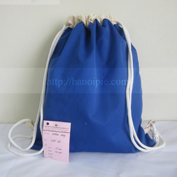 Top quality OEM canvas bag backpack drawstring cotton bag in Vietnam