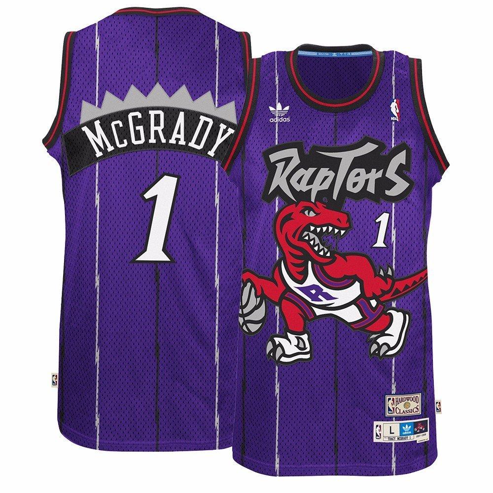 70927a1c6 Get Quotations · Tracy McGrady Toronto Raptors Purple Throwback Swingman  Jersey