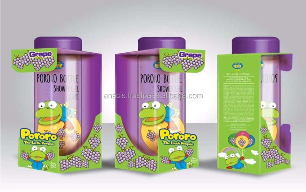 Pororo Kids & Baby Douchegel 300 ml Fruitsmaak Vitamine Complex Body Wassen Natuurlijke Extract Bad Gel