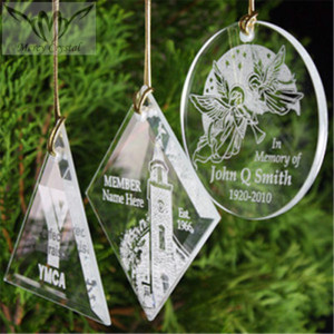 Various Shaped Glass Christmas Hanging Ornaments For Christmas Promotion Gift