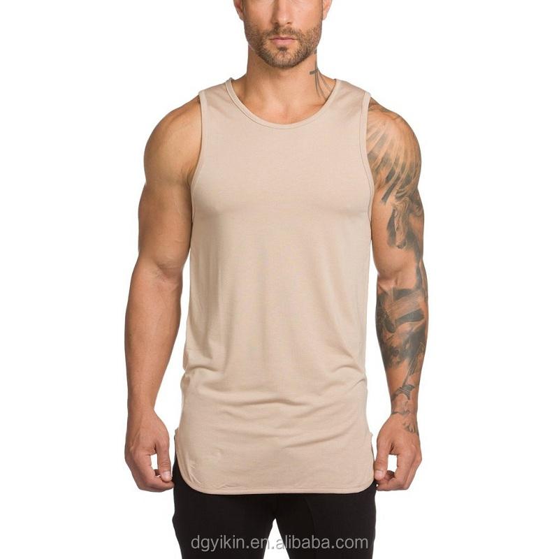 99550ff7b1b02 2017 new design men extended scoop hem gym tank top bulk blank muscle  fitness tank top