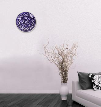 Indian Ceramic Flower Design Serving Plate Or Platter Wall Hanging Use For