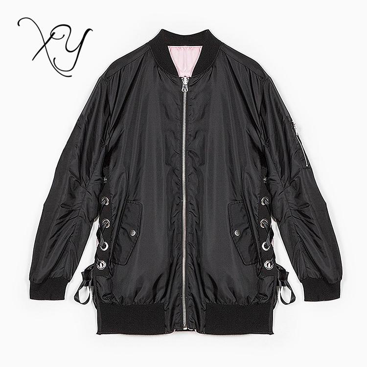 Custom Your Own Design Black Women Windbreaker Bomber Jacket - Buy ...