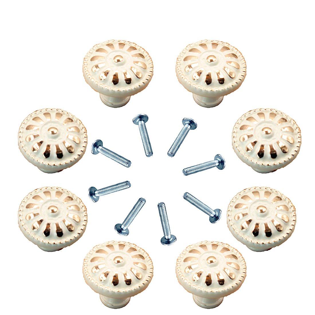 8 Pieces Drawer Knobs, Fresh Household Cabinet Knobs Cupboards Knobs Drawer Pulls Cabinet Handles Closet Knobs Wardrobe Door Hanldes