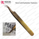 eyelash extension tweezers wholesale lashes mega Russian volume Pointed Tip plasma rose gold 3D 6D lash Diamond Grip - Marconi