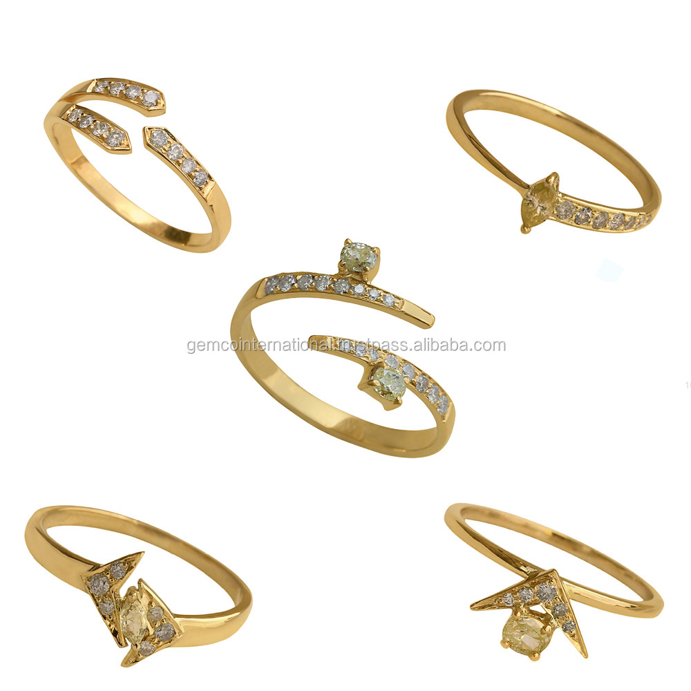 18k Yellow Gold Rings Lot 2017 Fine Jewelry Latest Design Gold Rings for Women