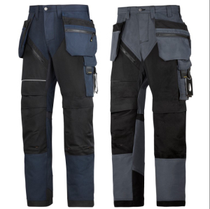 High Quality Work Wear Ruff Work Trousers With Holster Pockets Navy Steel Grey