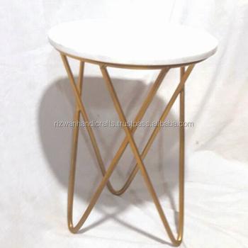 Design Moderno Incrociate Gamba Oro Da Tavolo In Metallo Con Bianco Piano  In Marmo. - Buy Piano In Marmo E Gambe In Metallo Tavolino,Croce Caffè  Gamba ...