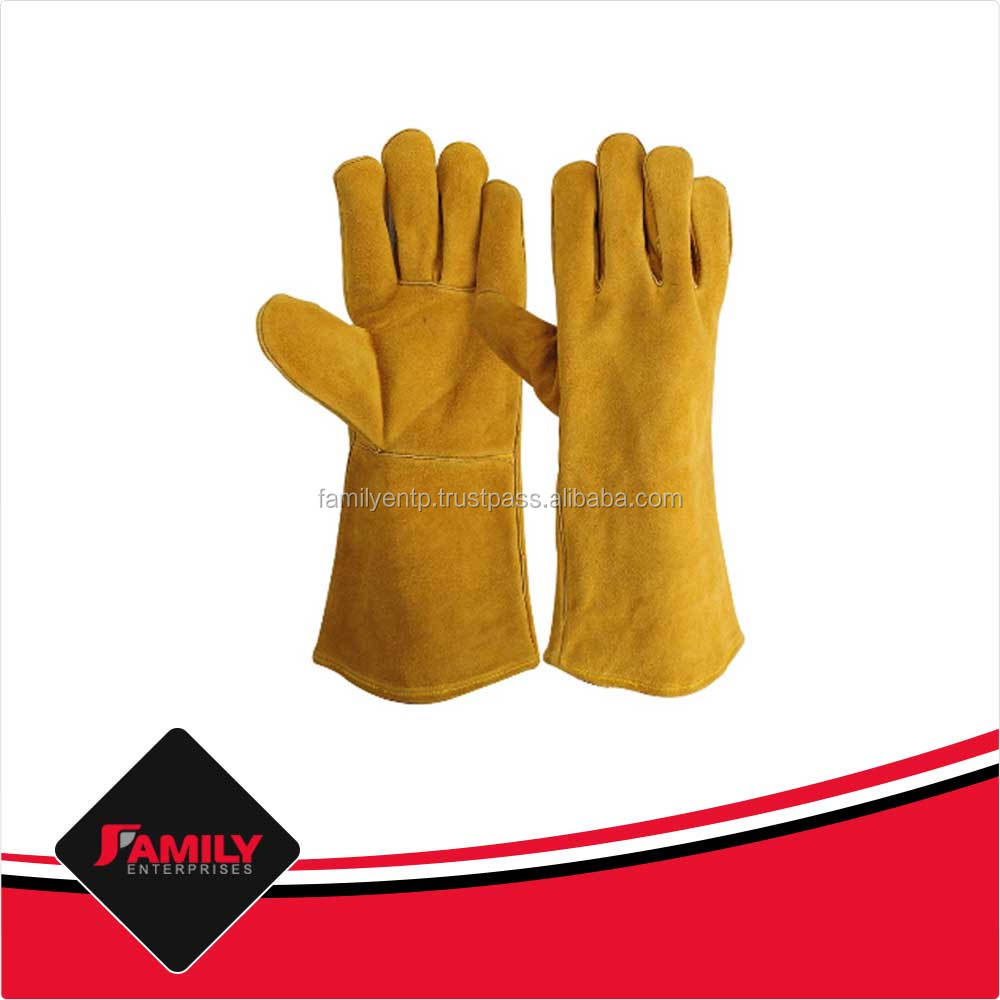 Hot Sell Double Palm Leather Welding Safety Gloves