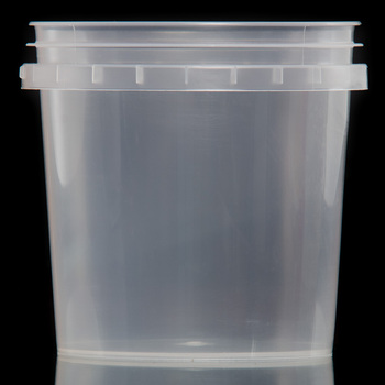 1 liter litre 1000ml transparent PP plastic bucket with cover