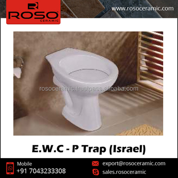 E.W.C - P Trap Floor Mounted Toilet