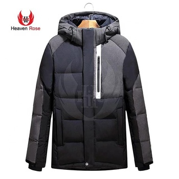 2019 Custom Branded Black Gray Outdoor Winter Clothing Men Down Jacket For Winters