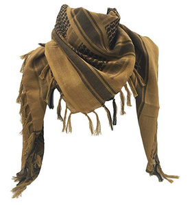 Fashion Outdoor 100% Cotton Military Desert Tactical Shemagh/Scarf Palestinian Yaser Arafat Style Keffiyeh Head Neck Yashmagh