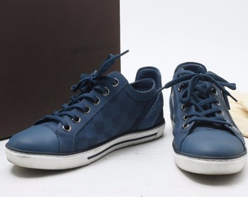 cd527befb23c High quality Used Brand LOUIS VUITTON MS1104 Blue Sneaker shoes for bulk  sale.