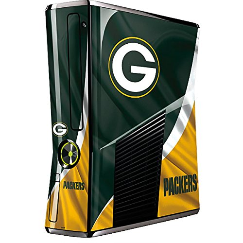 NFL Green Bay Packers Xbox 360 Slim (2010) Skin - Green Bay Packers Vinyl Decal Skin For Your Xbox 360 Slim (2010)