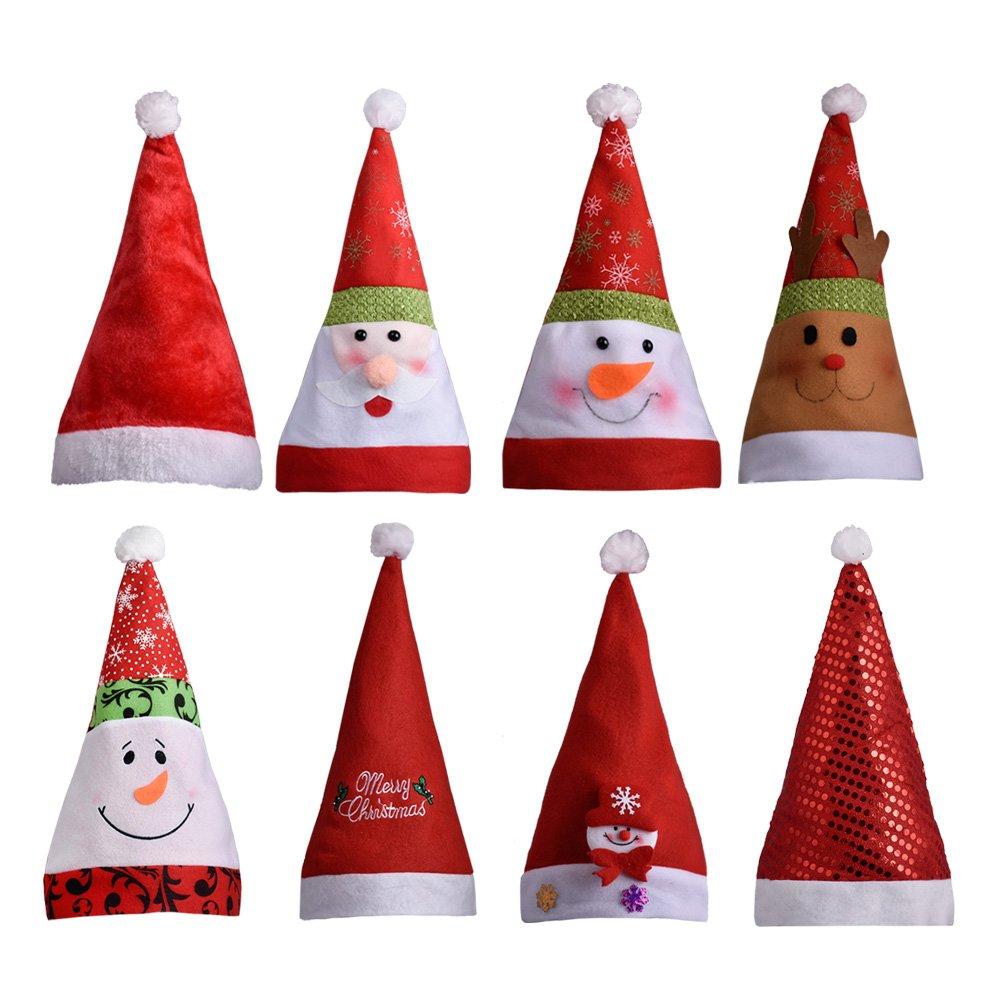 White Adult Christmas Xmas Chef Hat Santa/'S Helper Fancy Dress Novelty Santa Hat