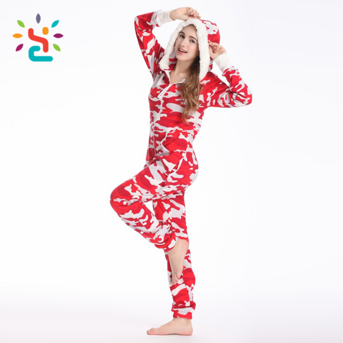 31fd4034d6 Women red camo Polar fleece romper leopard print adult slouchy onesie  promotion lady girls cheap long