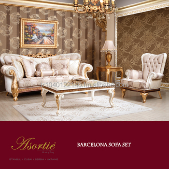 Barcelona Classic Living Room Set - Buy Living Room Furniture Sets,Luxury  Living Room Set,Elegant Living Room Furniture Sets Product on Alibaba.com
