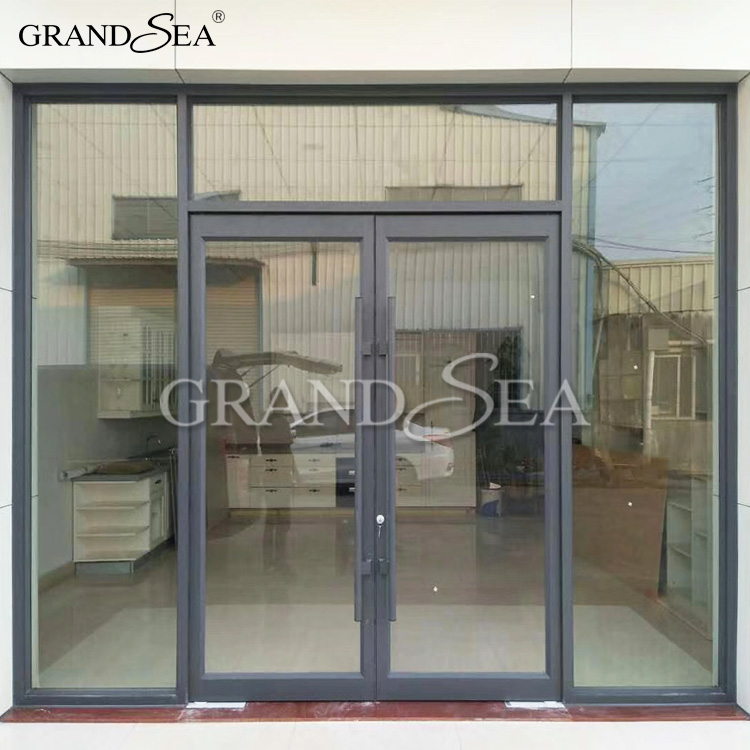 Used Commercial Glass Doors Aluminum Frame Fixed Big Windows Buy