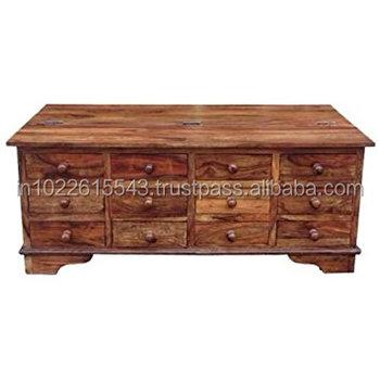 12 Drawer Coffee Table Mango Wood Furniture