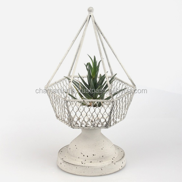 Metal Wall Plant Wall Ring Mounted Flower Pot Holder