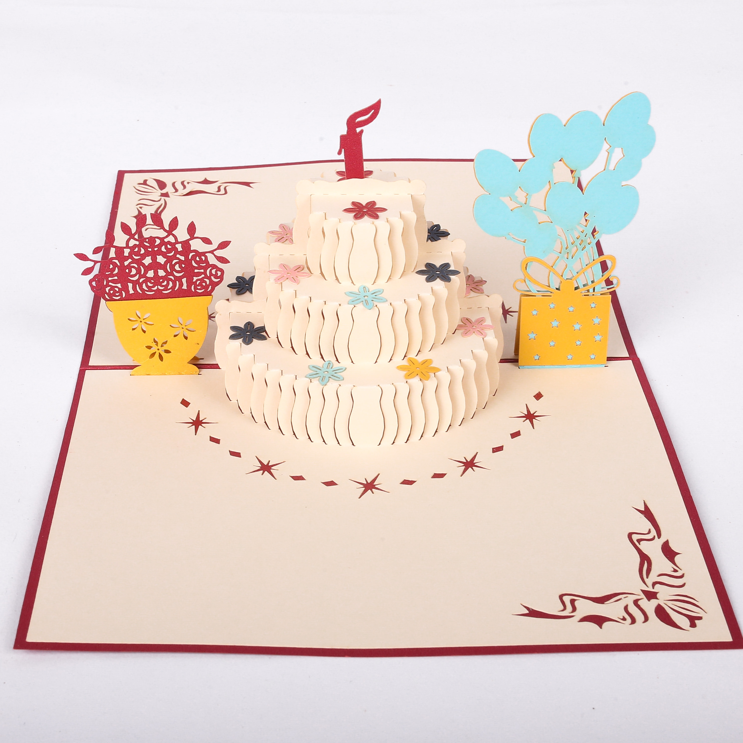 Киригами открытка с днем рождения, поздравление ребенка днем
