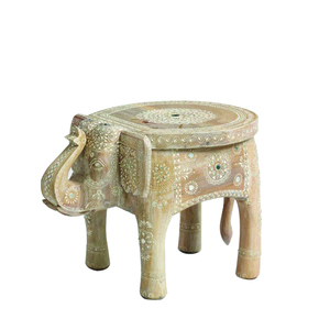 Peachy Wooden Painted Elephant Stool Onthecornerstone Fun Painted Chair Ideas Images Onthecornerstoneorg