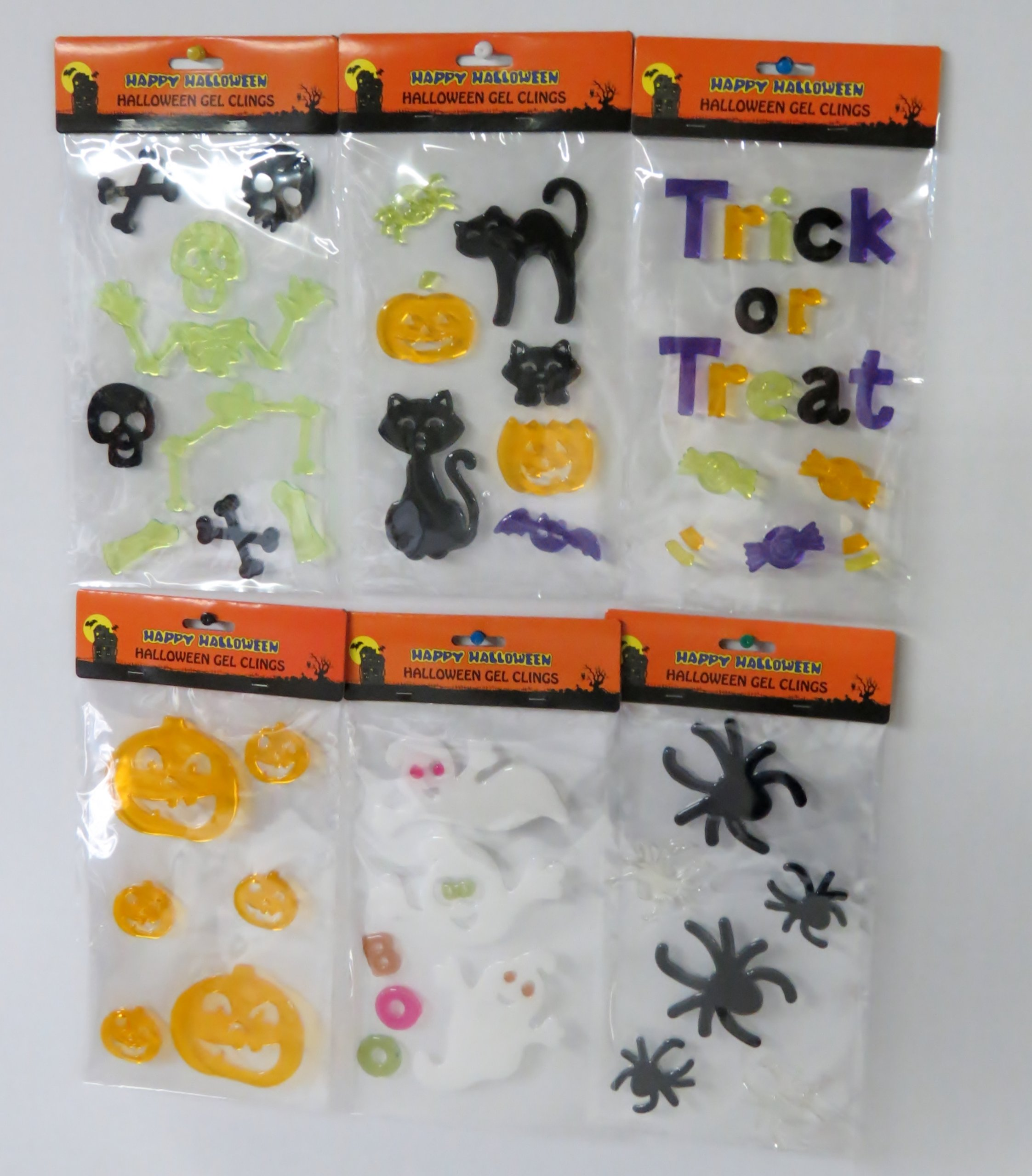 halloween green window decor cling face demon decorations