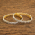 2 Pc Classic Bangles With 2 tone plating 59514 White