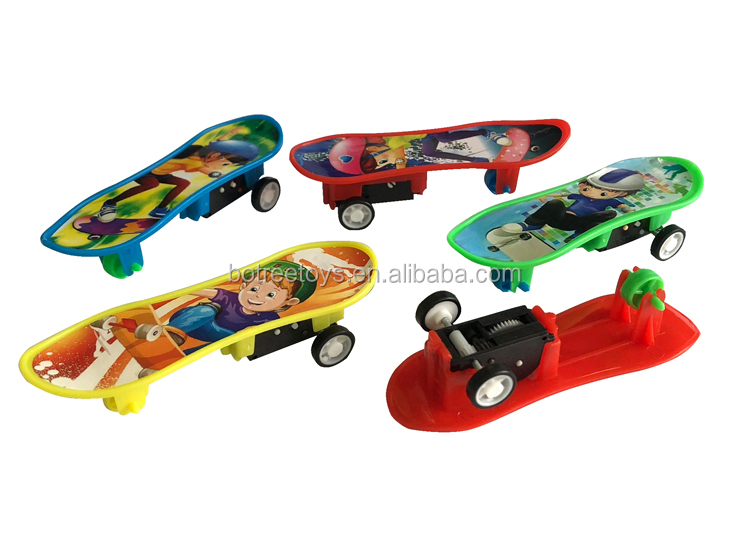 Finger Pull Back Skateboard Toy Promotional Push Toys for Kids