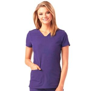 Custom v neck unisex cotton twill scrub top nurse uniform hospital