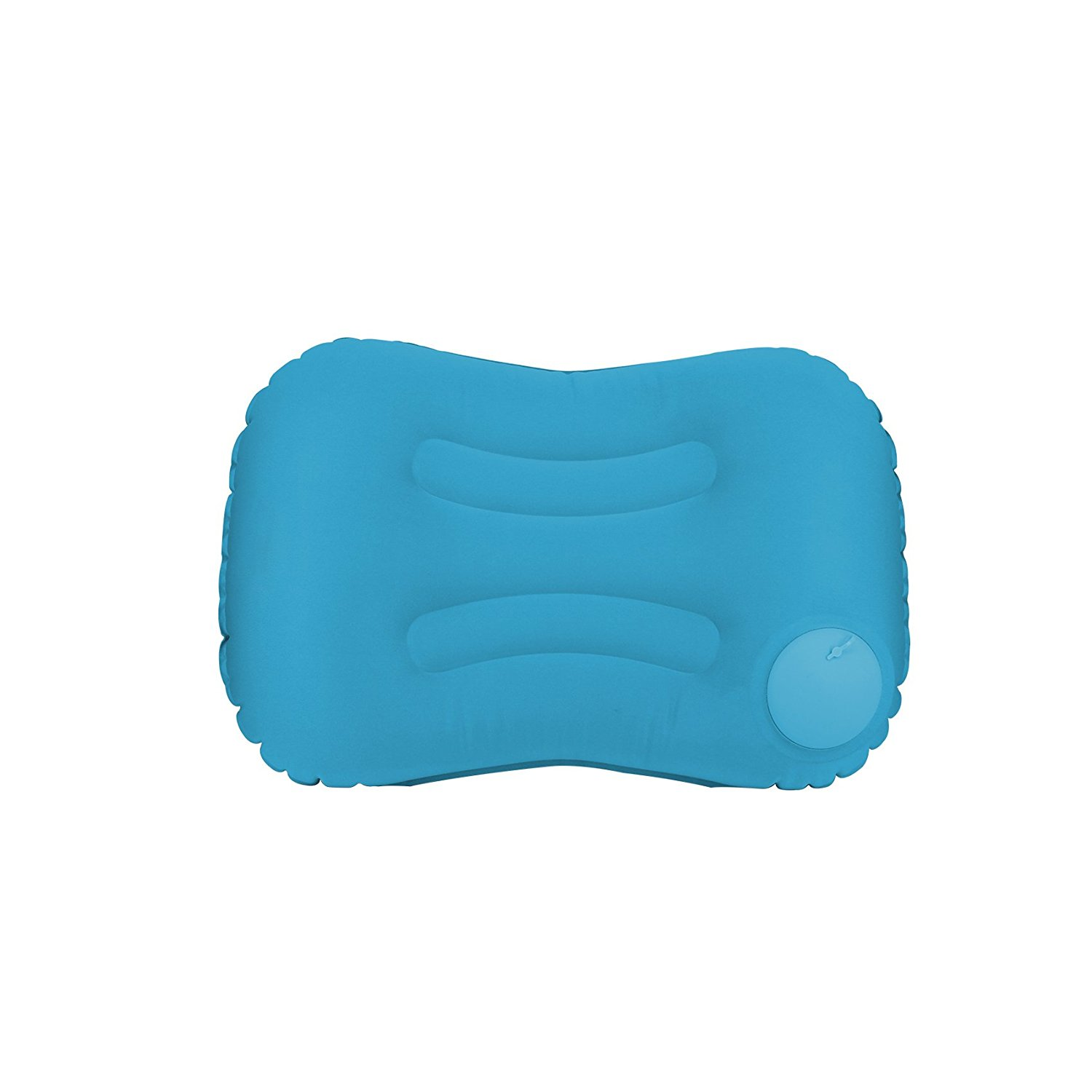 Inflatable Camping Pillow-Push Button Compressible Air Pillow, Compact and Comfortable for Outdoor Trips, Backpacking, Hiking, Travel, Beach, Airplane, Train, Car