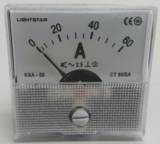 AC Analogue ,ampere meter, current meter, 50ty LIGHTSTAR