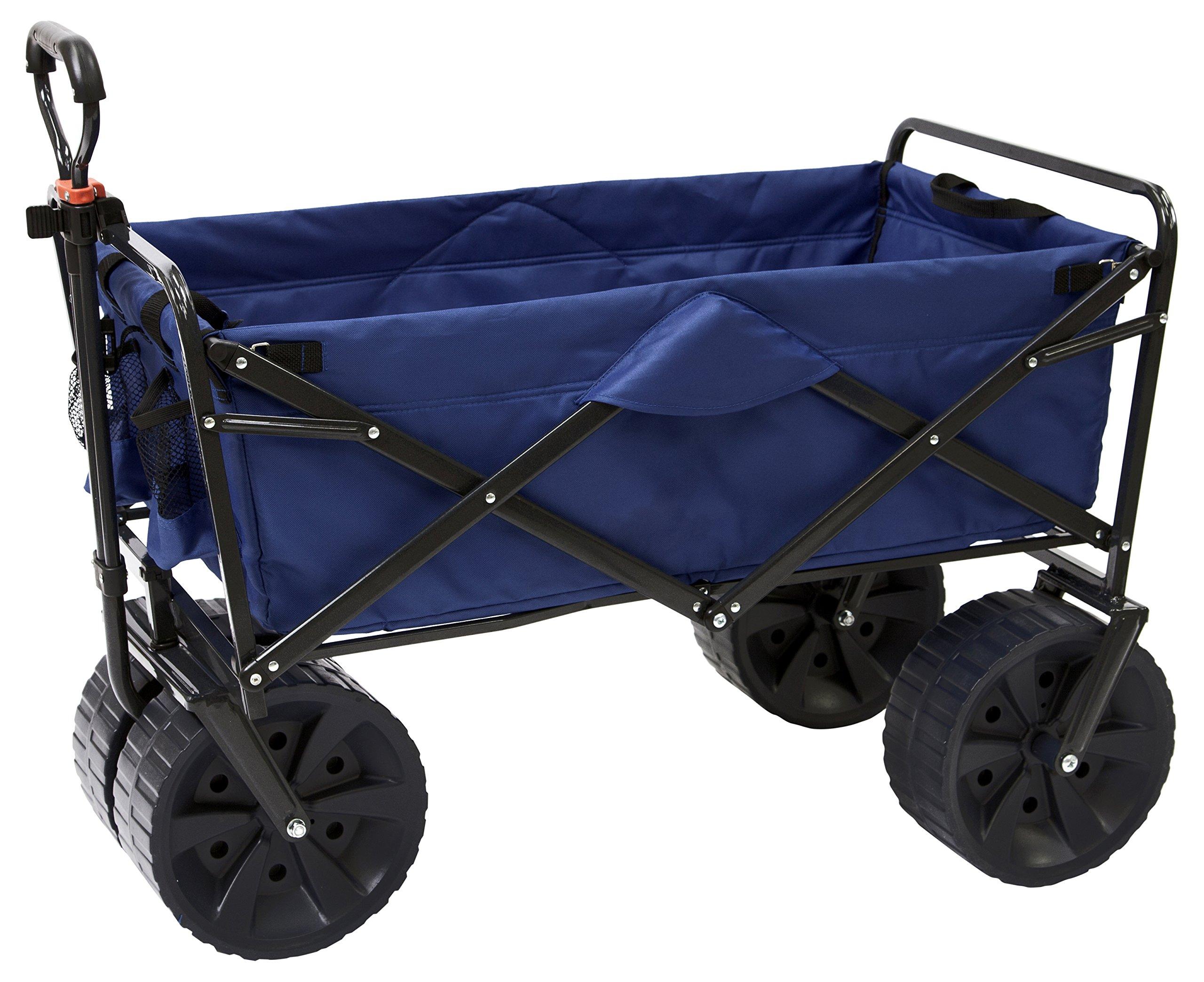 Mac Sports Heavy Duty Collapsible Folding All Terrain Utility Beach Wagon Cart Blue Black In Price On M Alibaba