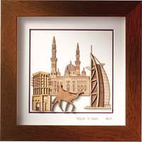 Malaysia Art Crafts Souvenir Gift Picture Wooden Photo Frame Handicraft Corporate Gift Laser Engraving 25cm x 25cm