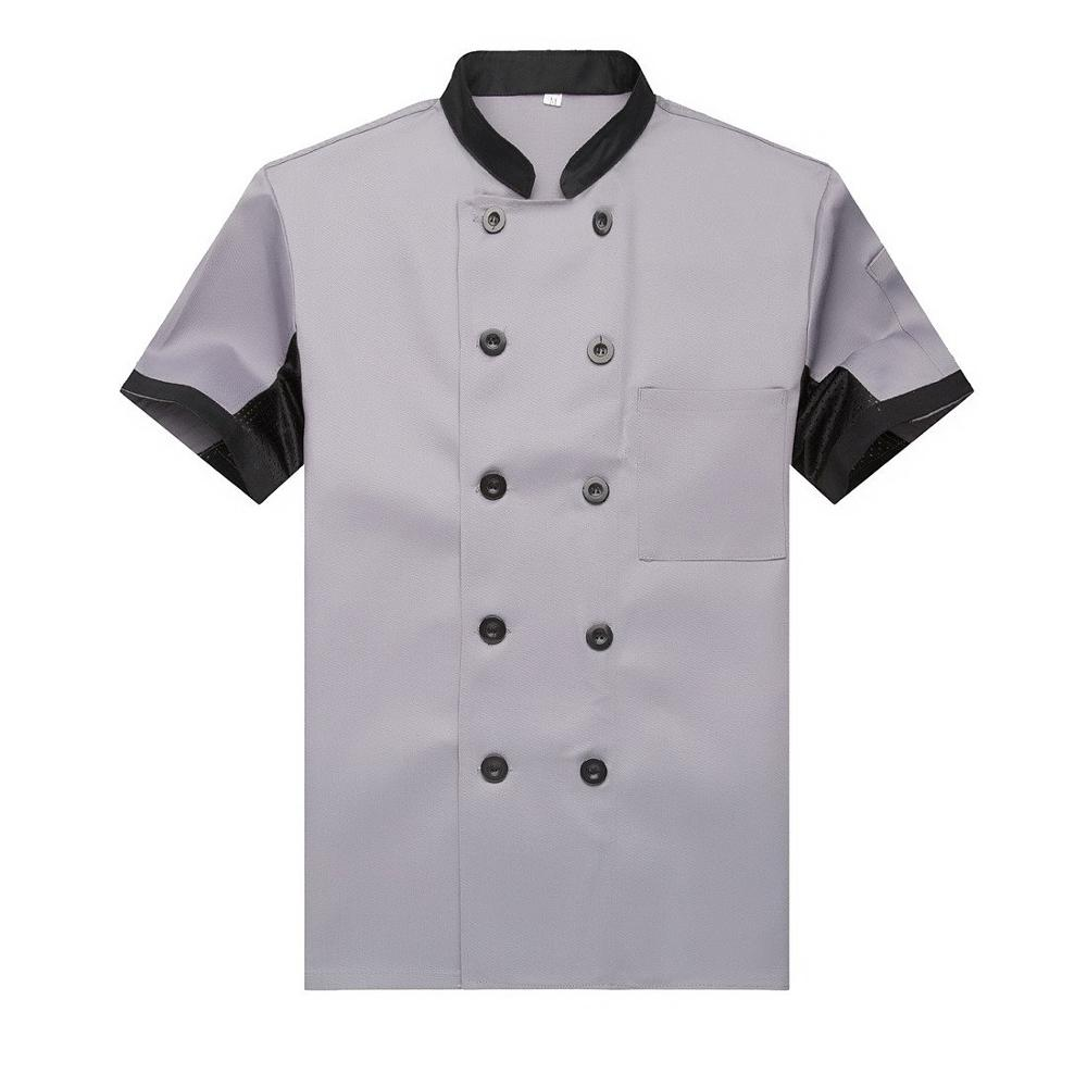 Custom Made Korte Mouw Ober Keuken Restaurant Chef Uniform Voor Unisex