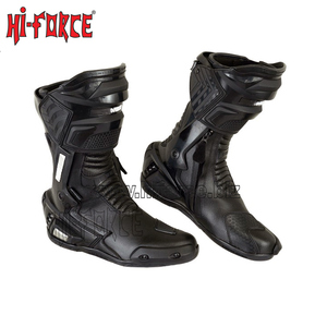 2019 New Men Motorcycle Biker Racing Leather Boots High Ankle Motorbike Shoes