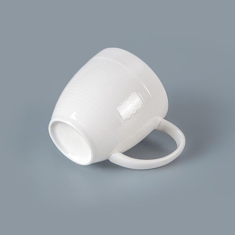 product-Best Seller Restaurant Hotel Supplies Tableware White Stoneware Mug Chaozhou, Ceramic Coffee-1