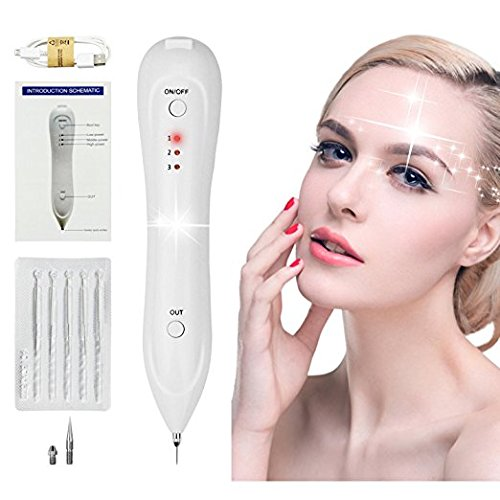 Mole Removal Pen USB Charging Mole Removal Kit Portable Professional Tattoo Spot Freckle Fleshy Nevus Pigment Removal Pen Beauty Device With Replaceable Needles