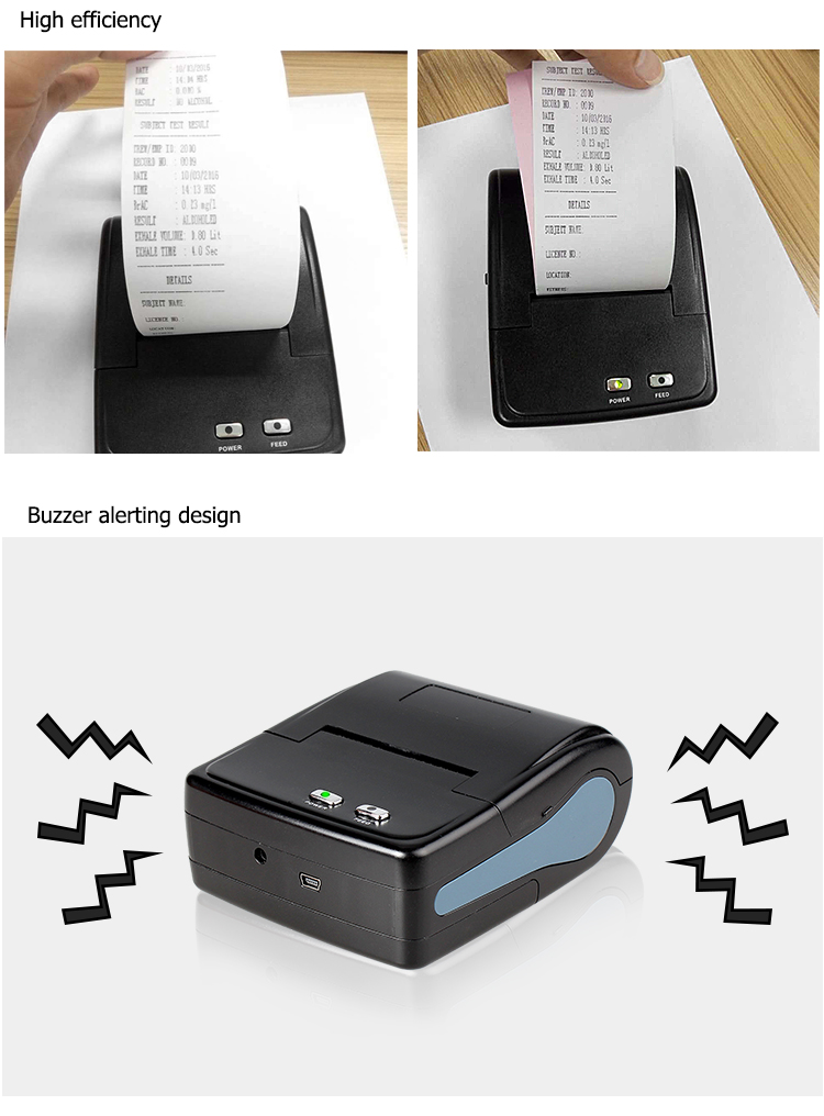 58mm portable android wireless bluetooth mobile dot matrix printer