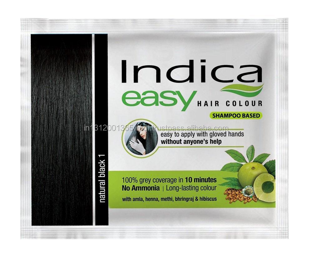 d0e5bcb79aa02 Indica Easy 10 Minutes Herbal Black Hair Color Shampoo Base - Buy ...